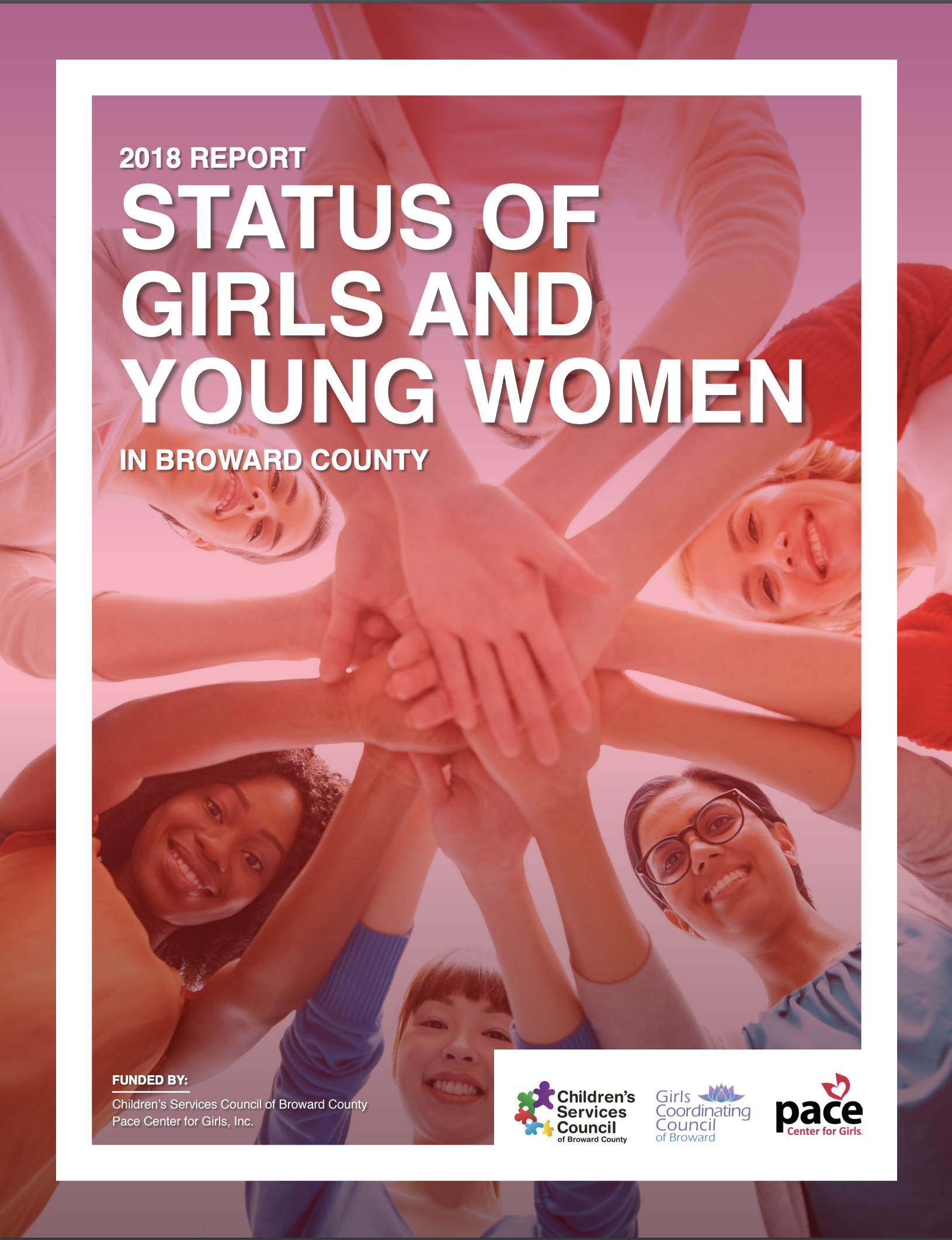 2018 Status of Girls and Young Women in Broward County report cover