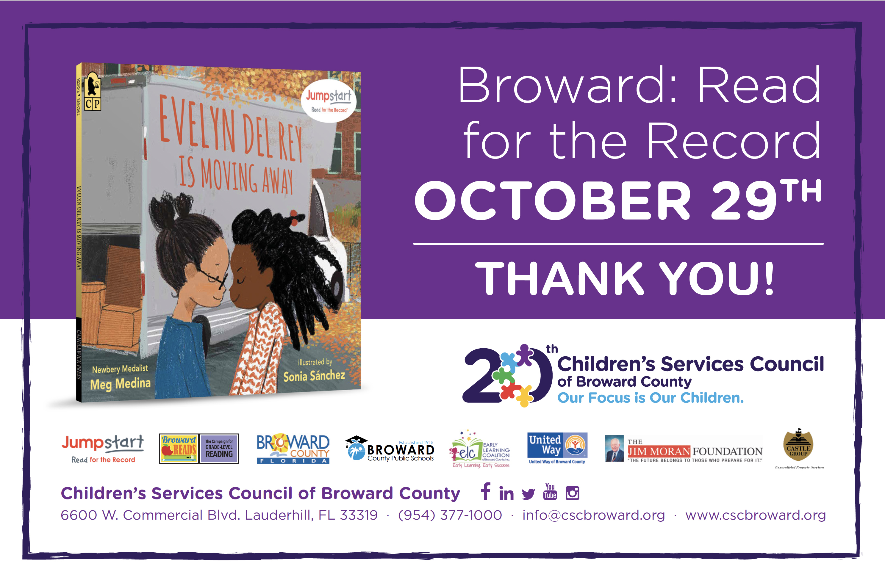 Broward: Read for the Record 2020 Thank You!