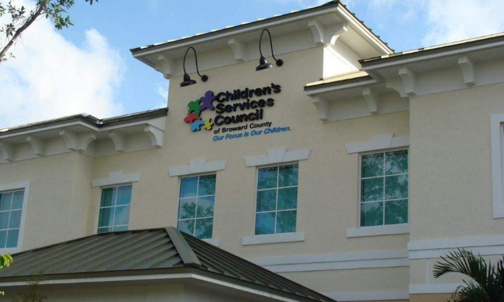 Front view of Children's Services Council of Broward County building