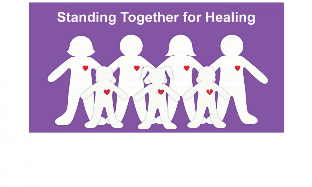 Standing together for healing - Broward AWARE logo