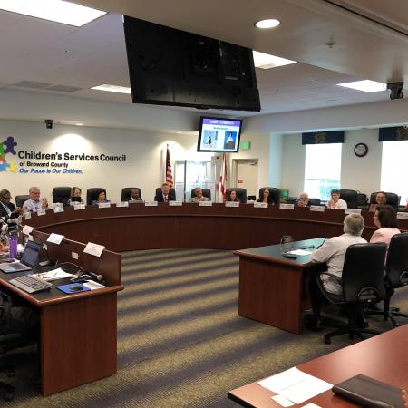 A Monthly Council Meeting at Children's Services Council of Broward County Florida