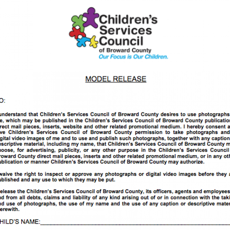 Photo Release English Children S Services Council Of